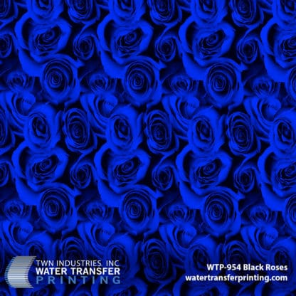 WTP-954 Black Roses Blue Hydrographic Film