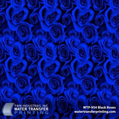 WTP-954 Black Roses Blue Hydrographic Film