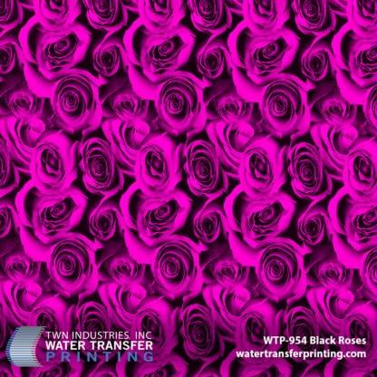 WTP-954 Black Roses Pink Hydrographic Film