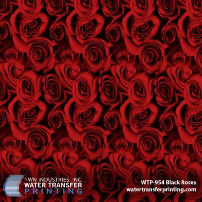 WTP-954 Black Roses Red Hydrographic Film