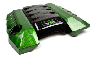 V8 Engine Cover Dipped in Carbon Fiber