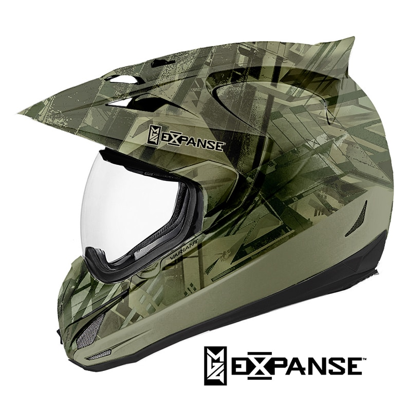 Motocross Helmet Dipped in Expanse Hydrographic Film