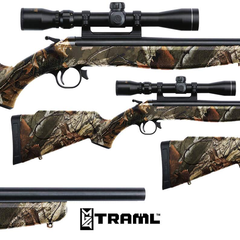 Rifle Dipped in Traml Camouflage Hydrographic Film