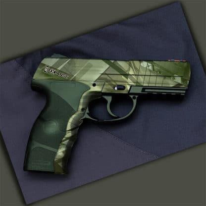 Handgun Dipped in WTP-971 Expanse Hydrographic Film