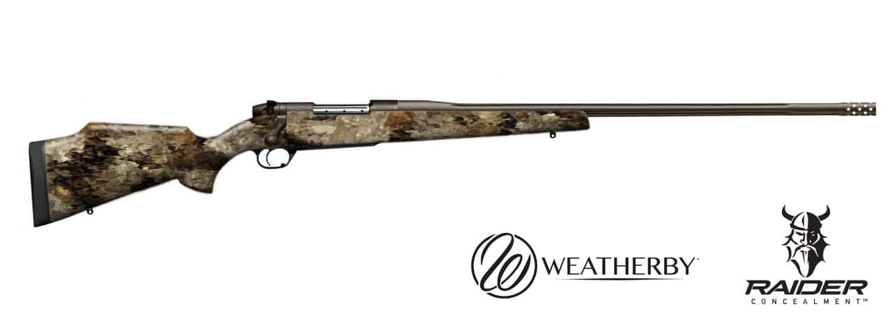 Weatherby Bolt Action Hydro Dipped in Raider Broadsword