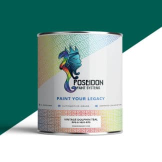 Vintage Dolphin Teal Hydrographic Paint by Poseidon | TWN