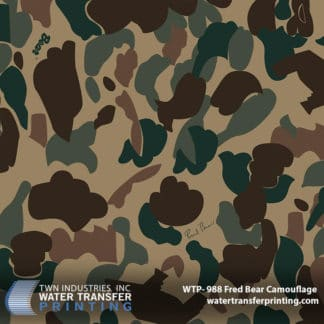 WTP-988 Fred Bear Camouflage Hydrographic Film