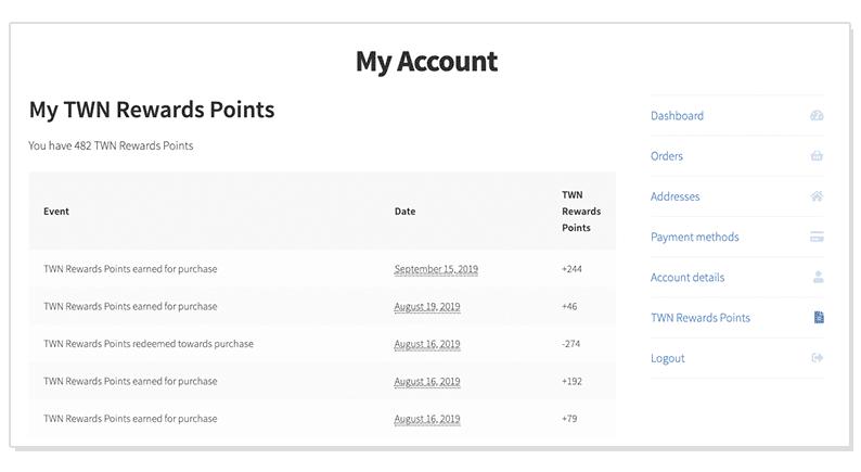 TWN Account Dashboard