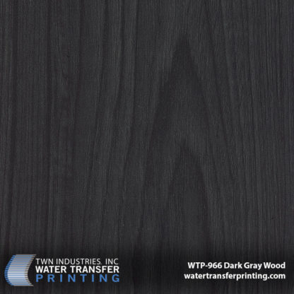 WTP-966 Dark Gray Wood Hydrographic Film