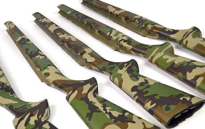 US Woodland M81 Camo Rifle Stock Hydro Dipping Laying