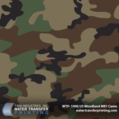 WTP-1000 US Woodland M81 Camo Hydro Dip Film