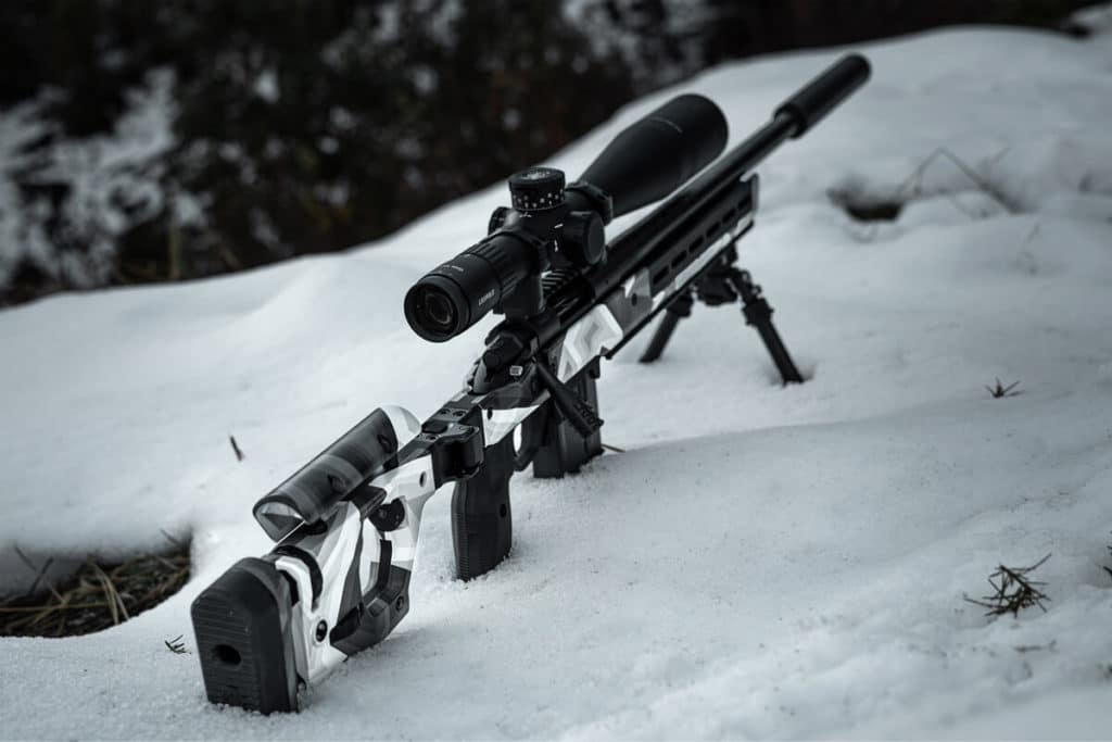 ERA3 Hydrographic Film on Magpul Rifle in Snow