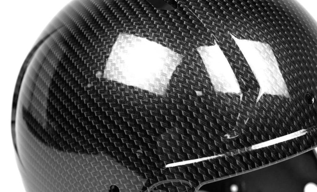 Chrome Carbon Fiber Hydro Dip Film Football Helmet