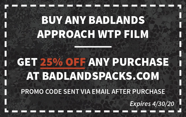 Badlands Approach Black Coupon Code