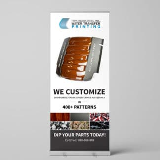 Hydro Dipping Retractable Banner Automotive