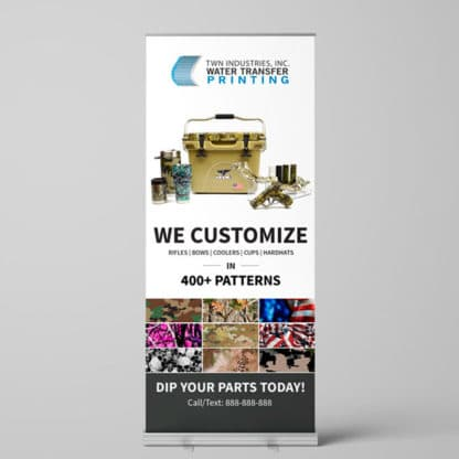 Hydro Dipping Retractable Banner Camouflage