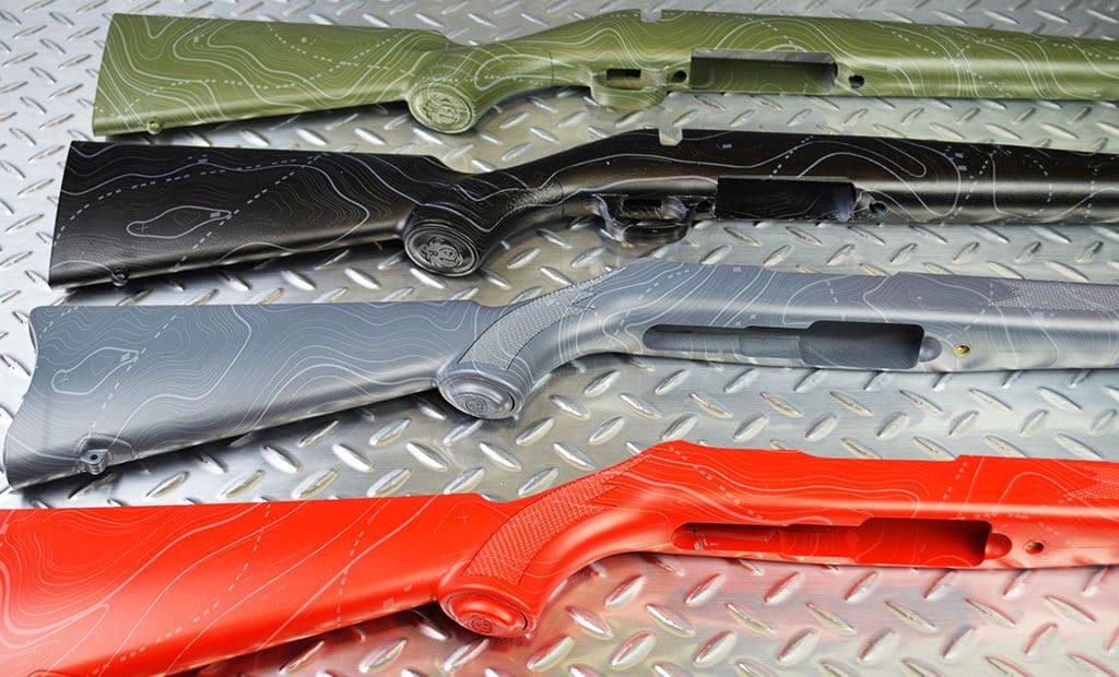 Black Ops Hydro Dip Film Gun Stocks Close Up