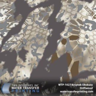 WTP-1027 Kryptek Obskura Driftwood Hydro Dip Film
